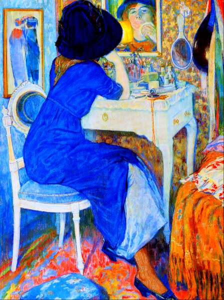 1911 Woman at Makeup Table (also known as Lisette at Toilette) by Gestel (location unknown) Athenaeum