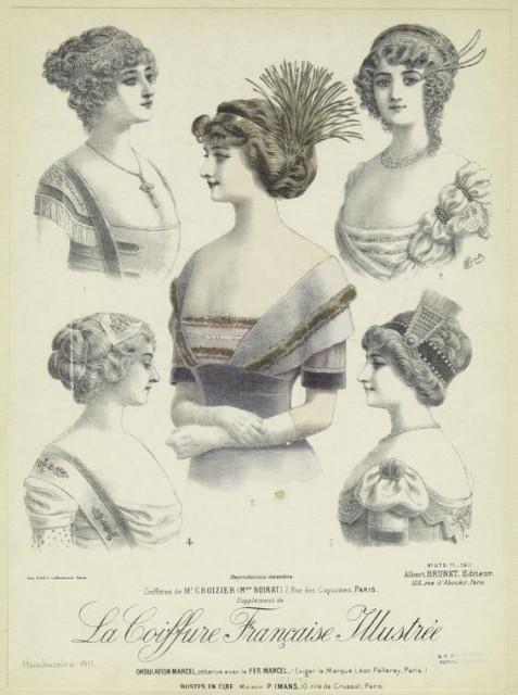 1911 Coiffures de Mr. Croizier (Mon Noirat), 7, rue des Capucines, Paris