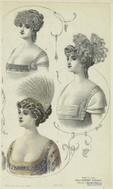 1911 Hairstyles for women, France