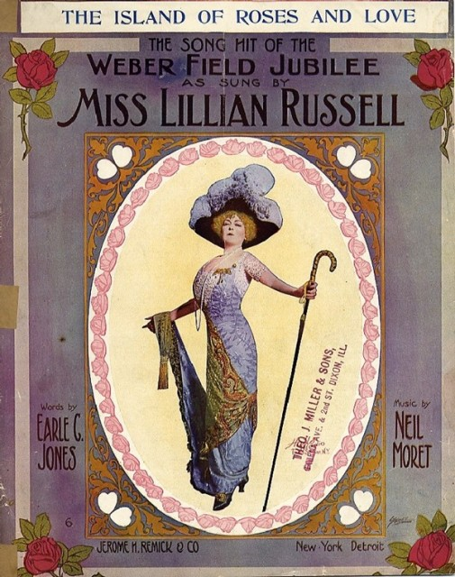 1911 The Island Of Roses And Love with Lillian Russell illustration