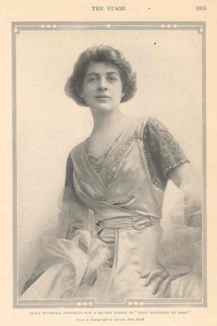 1913 Actress Olive Wyndham