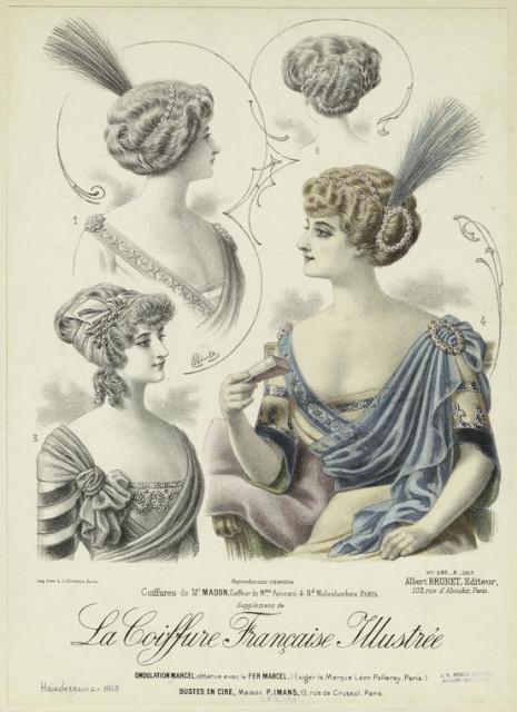1913 Coiffures de Mr. Madon, coiffeur de Mme. Poincaré, 4, Bd. Malesherbes, Paris NYPL
