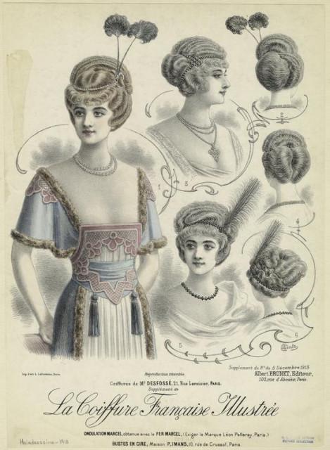 1913 La coiffure française illustrée by Wintz from Coiffure francaise illustrèe