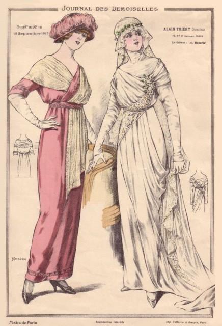 1913 bride Journal des Demoiselles plate (from fashion-era.com)