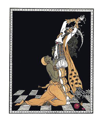 1913 Ida Rubenstein and Vaslav Nijinsky in Schéhérazade, Paris 1910