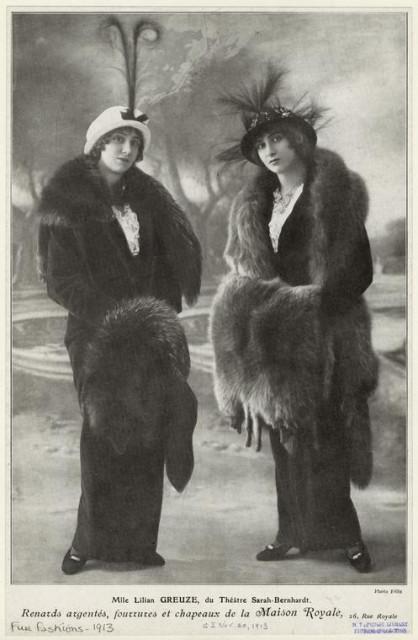 1913 Mlle Lilian Greuze du Théâtre Sarah-Bernhardt