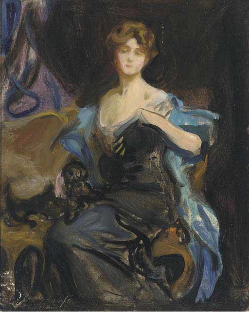 "1913 Sketch of a Lady by de Laszlo (Christie""s)"