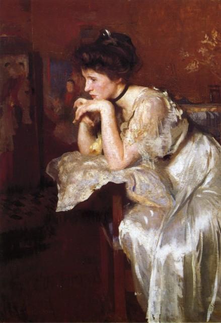 1913 Reverie (Katherine Finn) by Tarbell (Museum of Fine Arts Boston) Athenaeum