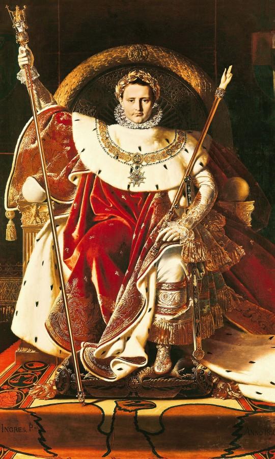 1806_Наполон I на императорском троне (260 х 163 см) (Париж, Музей армии в Доме Инвалидов)
