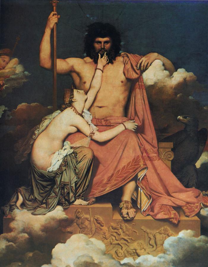 1812_Зевс и Фетида (327 х 260 см) (Экс-ан-Прованс, музей Гране)