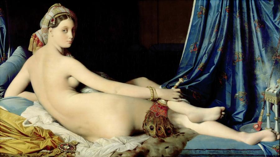 1814_Большая одалиска (91 х 162) (Париж, Лувр)