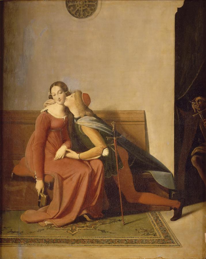 1814_Паоло, Франческа и Ингресс (35 х 28 см) (Шантильи, музей Конде)
