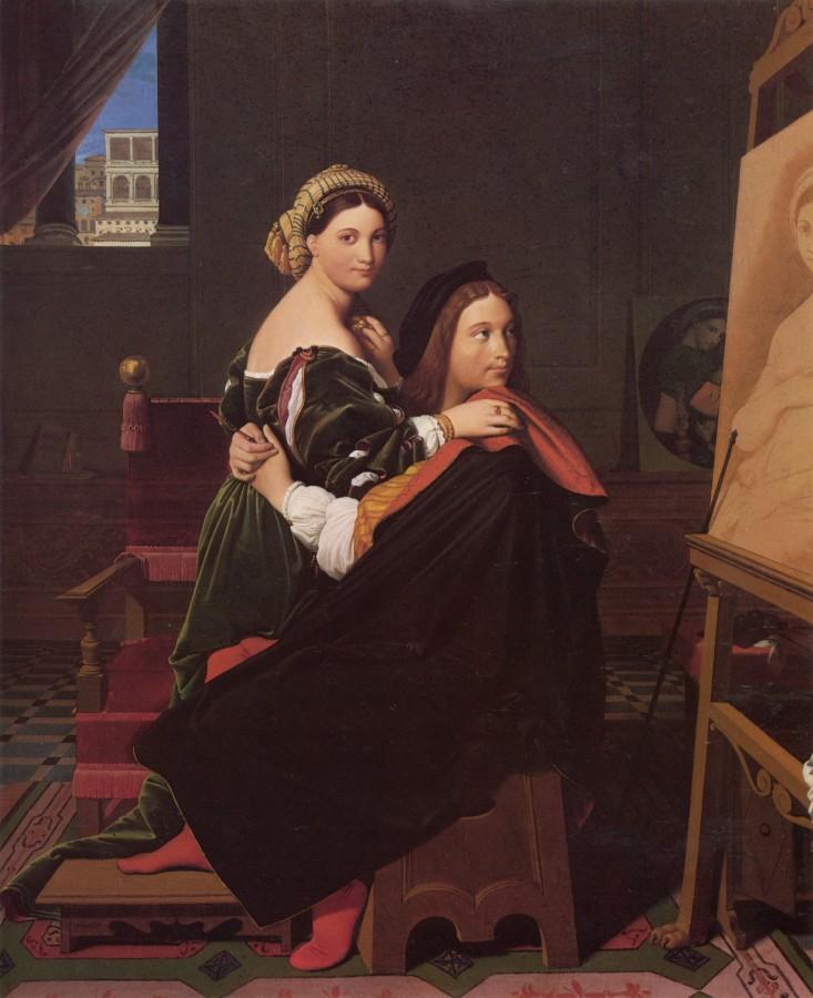1814_Рафаэль и Форнарина (Кембоидж, Гарвардский университет, Музей искусства)