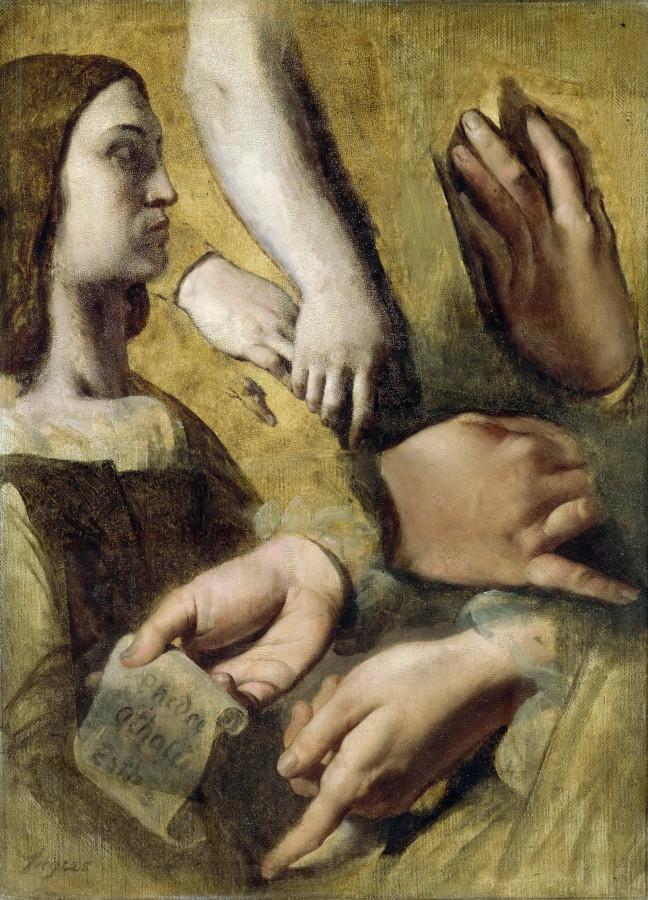 1826-1827_Этюды для Апофеоза Гомера (37 х 27 см) (Париж, Лувр)