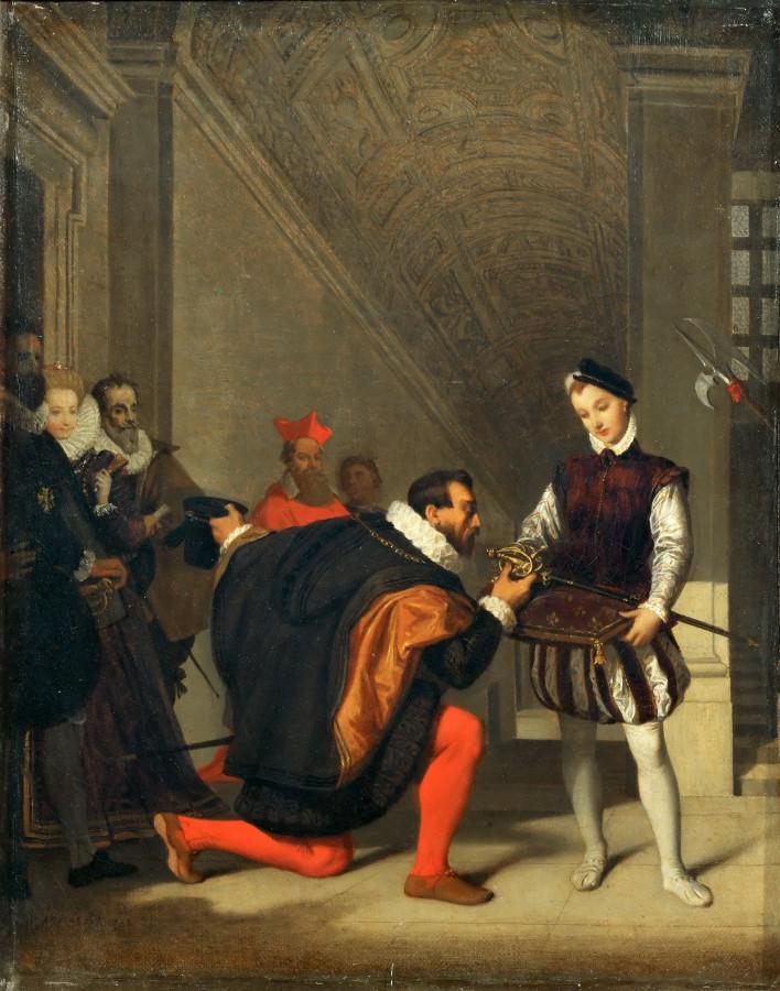 1832_Дон Педро Толедский, целующий шпагу Генриха IV (36 х 28 см) (Париж, Лувр)