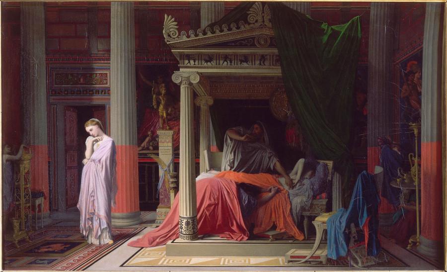 1840_Болезнь Антиоха или Антиох и Стратоника (77 х 61 см) (Шантильи, музей Конде)