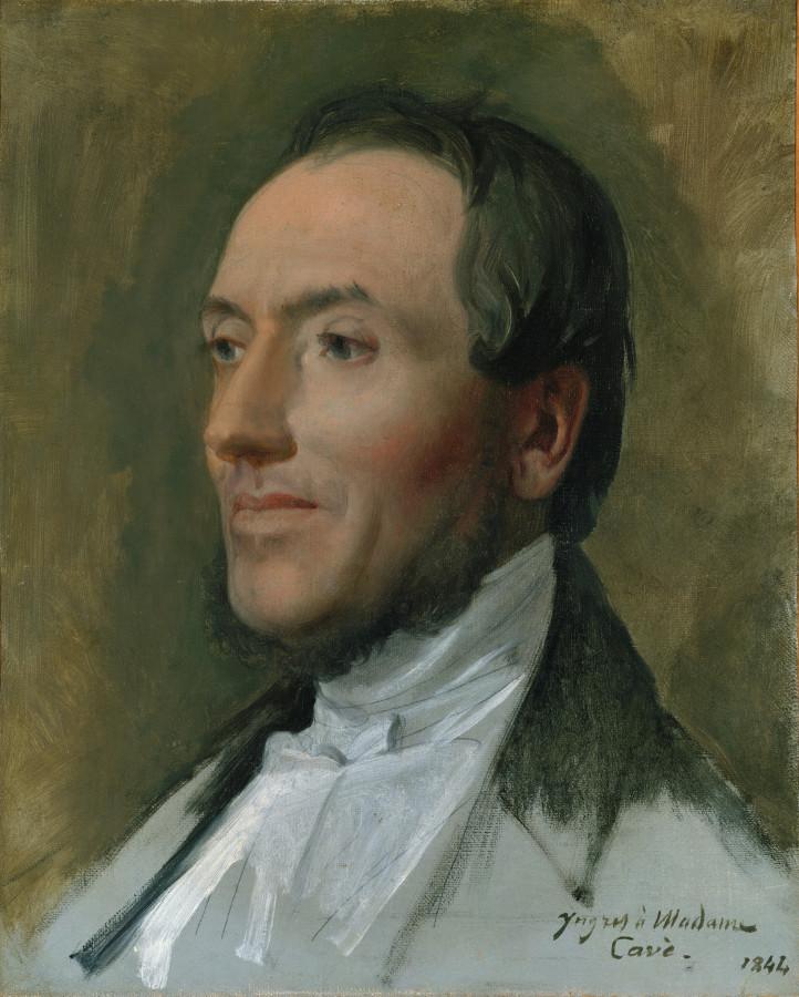 1844_Портрет Эдмонда Каве (1794-1852) (40.6 х 32.7 см) (Нью-Йорк, Метрополитен)
