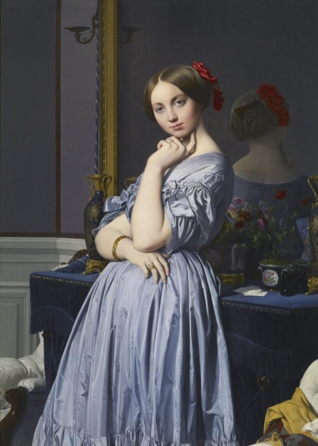 1845_Графини д'Оссонвиль (131.8 х 92 см) (Нью-Йорк, коллекция Фрик)