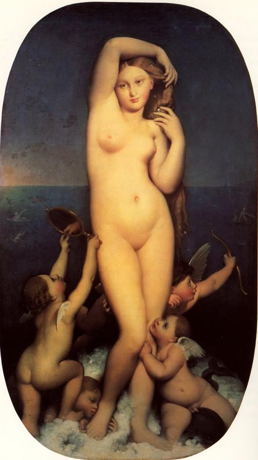 1848 (ок)_Рождение Венеры (Венера Анадиомена) (164 х 82 см) (Шантильи, музей Конде)