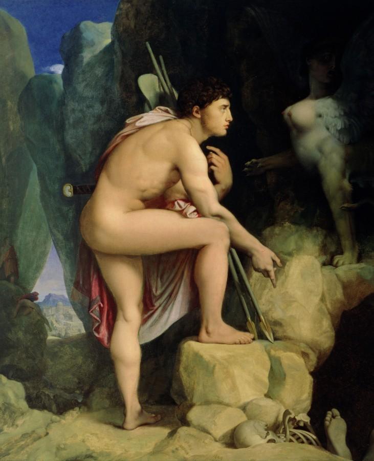 1864_Эдип и сфинкс (105.5 х 87 см) (Балтимор, музей Уолтерса)