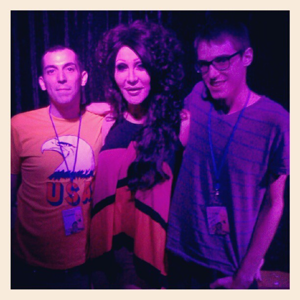 Kris & I with Chad Michaels