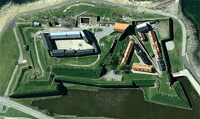 крепость, вид сверху