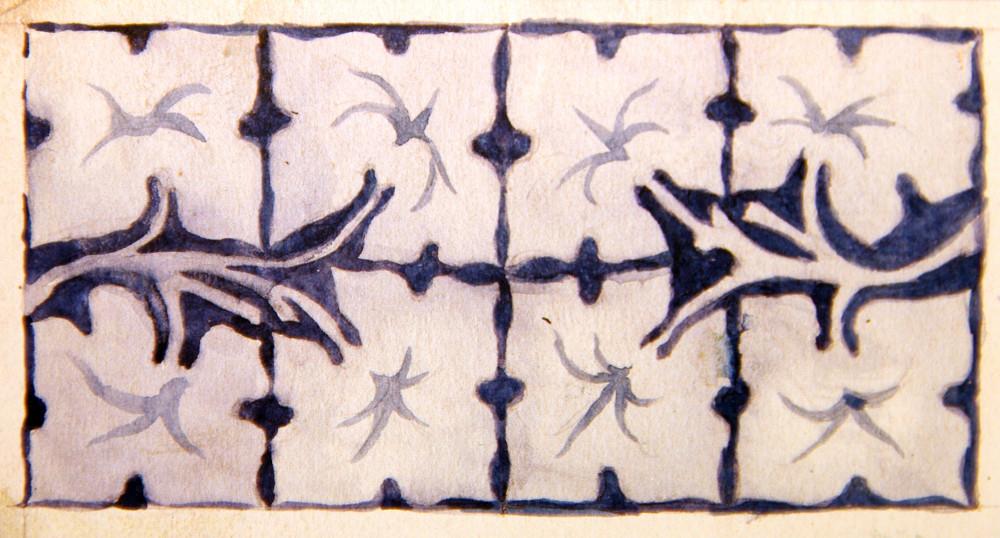 Эскиз орнамента из книги Андрея Роденкова и Константина Лихолата «В творческой мастерской П.К. Ваулина».