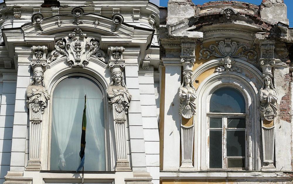 Слева особняк Кобобковых в Москве. Справа винные склады Иванова в Самаре.