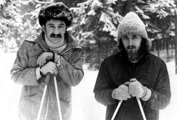 С товарищем на прогулке. Минск, 1981 г. Фото из архива автора