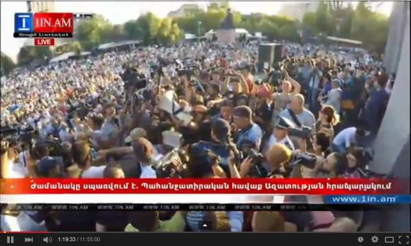 В ходе разгона демонстрантов в Ереване полиция задержала 237 человек - Цензор.НЕТ 3710