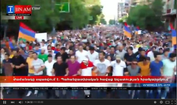 В ходе разгона демонстрантов в Ереване полиция задержала 237 человек - Цензор.НЕТ 8146