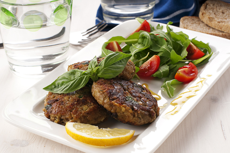 cutlet with aubergine