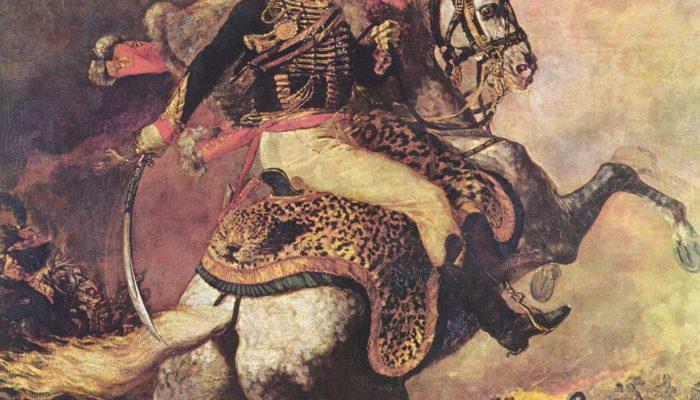 """Жерико. """"Офицер конных егерей императорской гвардии, идущий в атаку"""". Картина 1812 года. Но это же не генерал и не русский."""