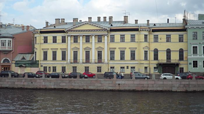 Дом Голицина на Фонтанке.