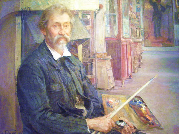 Портрет Репина. 1912 г.