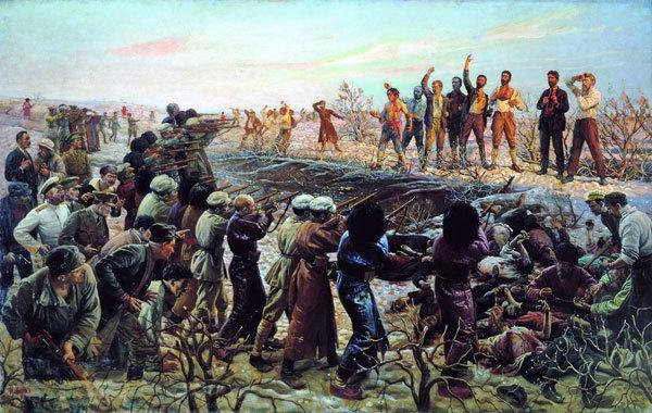 Расстрел бакинских комиссаров. 1925 г.