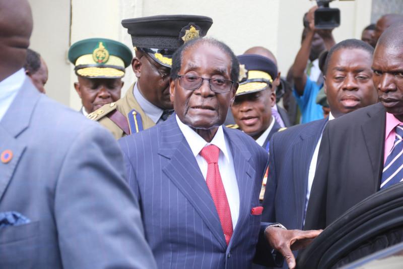 Посередке  Мугабе, а за его спиной в большой фуражке тот самый знакомец Палыча.