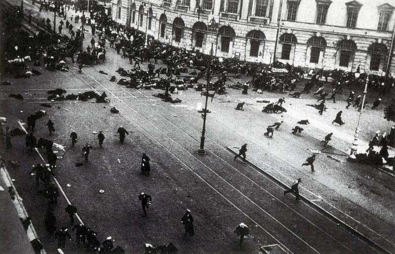 Так было на этом перекрестке в июле 1917 г.