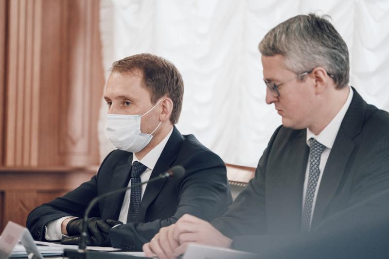 Министры частично в масках.