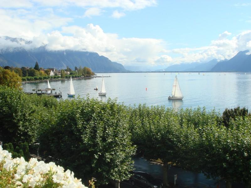 Вид с балкона на Женевское озеро. Больше никуда не хочу!