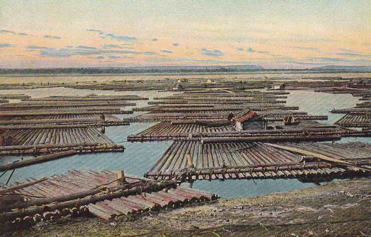 Плоты на Волге. 1904-12
