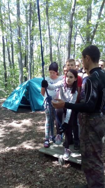 Дочь в лагере