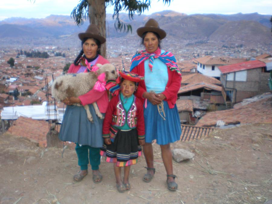 Куско и его жители в национальных костюмах