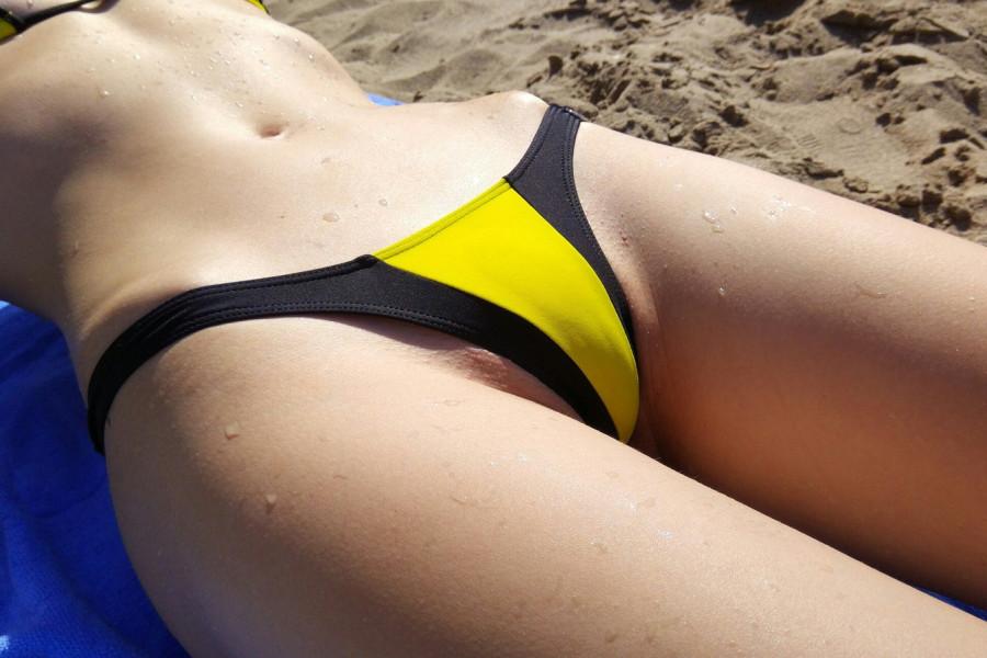 Секс дома пошли на пляж #5