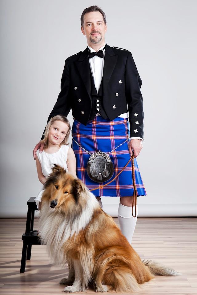 Дочка, пёс и я в килте