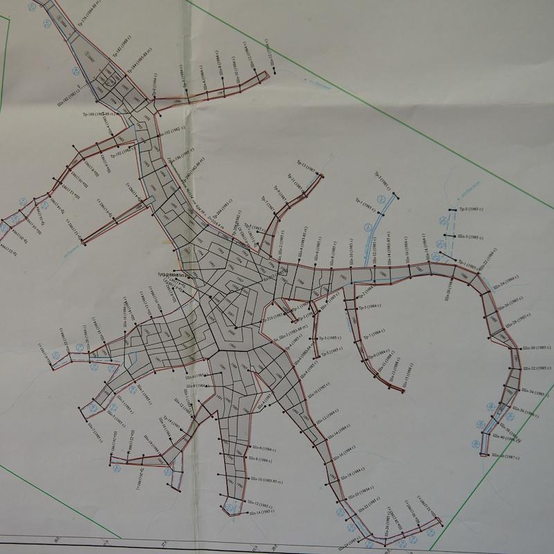 Карта разработок прииска в кольце