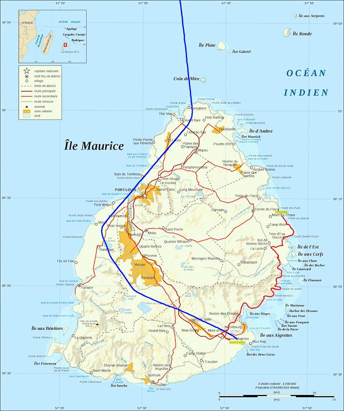 Карта подлета к острову