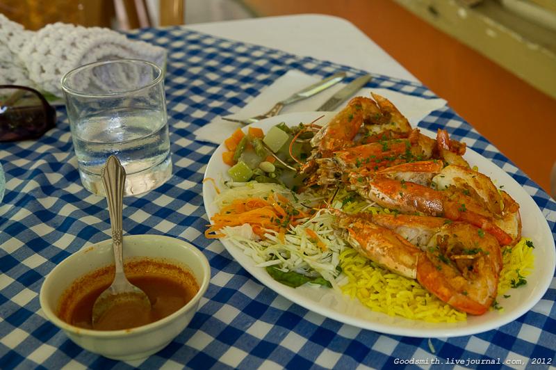 Ланч в ресторане неподалеку от Ботсада