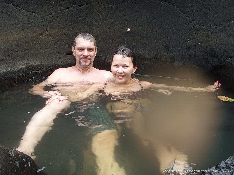 В водобойной яме :)