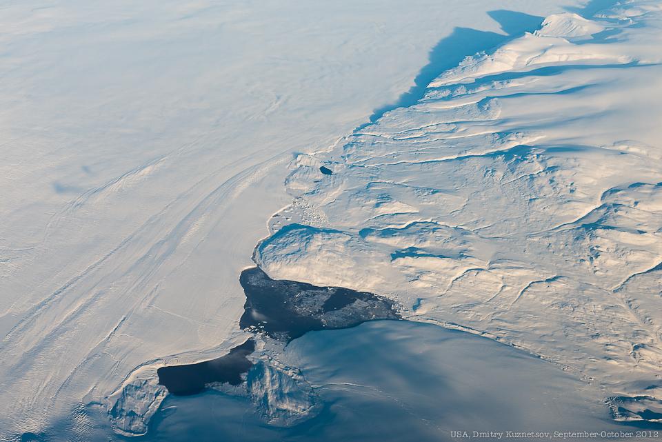 Гренландия - озера, горы и ледники